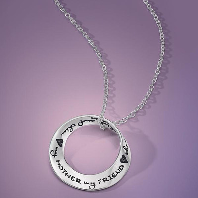 My Mother My Friend Through Thick And Thin Sterling Silver Necklace