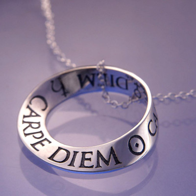 Carpe Diem Sterling Silver Necklace