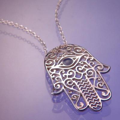 Hamsa Sterling Silver Necklace