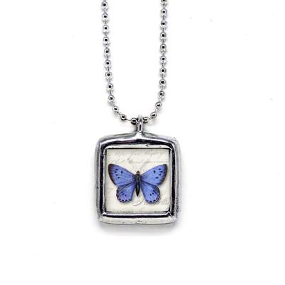 Cobalt Blue Butterfly Pendant