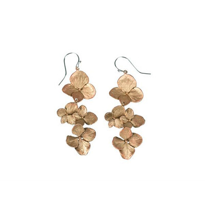 Hydrangea Shower Fish Hook Earrings