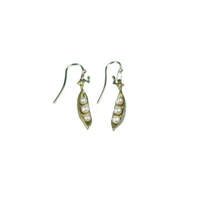 Pea Pod  Petite 3- Pearl Drop Fishhook Earrings