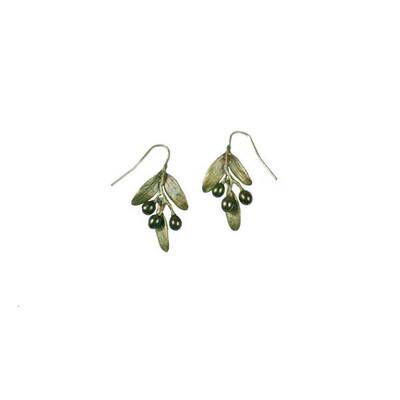 """Olive """"Wire"""" Fishhook Earrings"""