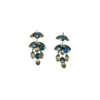 "Blueberry Lapis ""Drop"" Post Earrings"