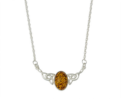 Celtic Necklace in Honey Amber