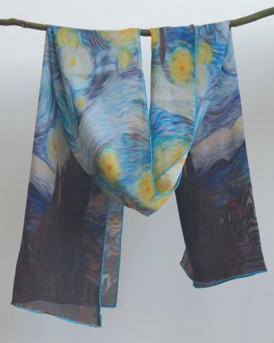 Starry Night Silk Scarf