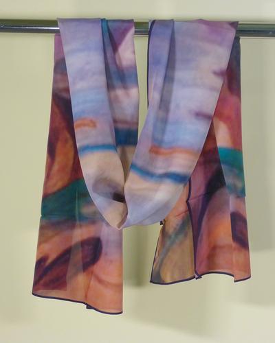 Purple Shore Silk Scarf