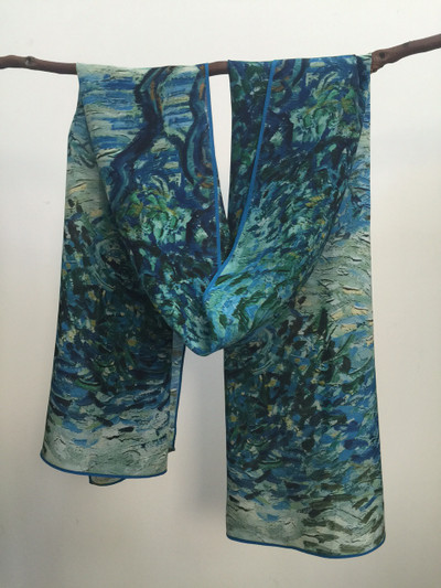 Olive Orchard Silk Scarf