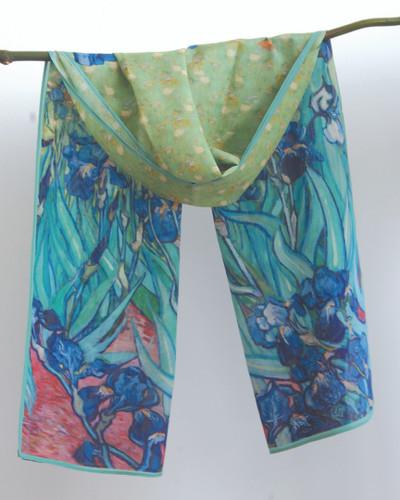Irises Silk Scarf
