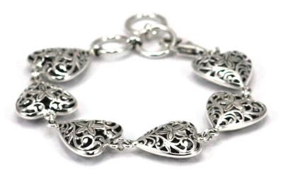 Weda Filigree Heart Station Bracelet