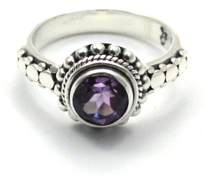 Padma Beaded Amethyst Ring