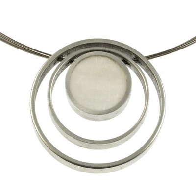 Triple Ring Reversible White/Charcoal Necklace