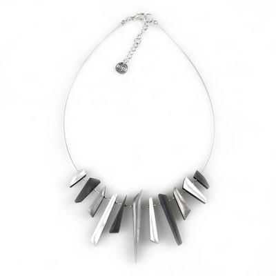 Icicle Necklace - Black/White