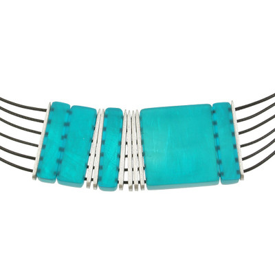 Turquoise Multi-Strand Square Necklace