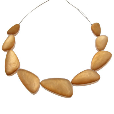 Gold Triangular Resin Necklace