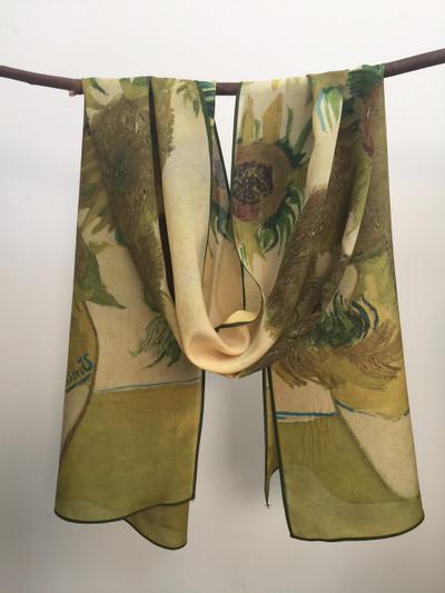 Sunflowers Silk Scarf