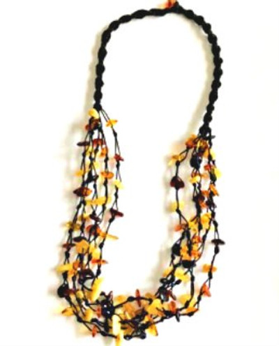 "Multi-Strand 20""  Amber Necklace"