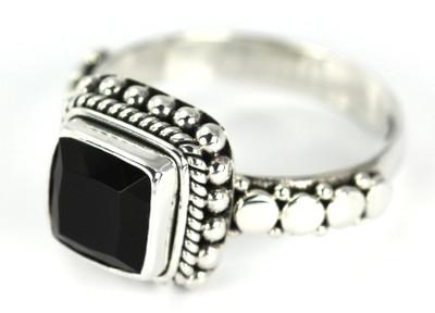 Padma Beaded Black Onyx Ring