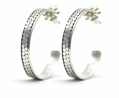 Kala Double Row Hoop Earring