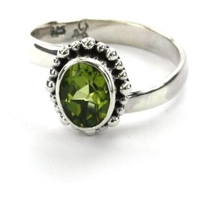 Padma Beaded Adjustable Peridot Ring