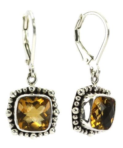 Padma Beaded Citrine Earrings