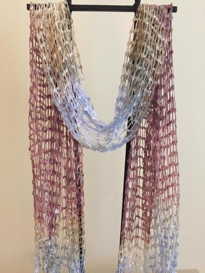 Open Weave Silk Scarf, Kalahari Sunset