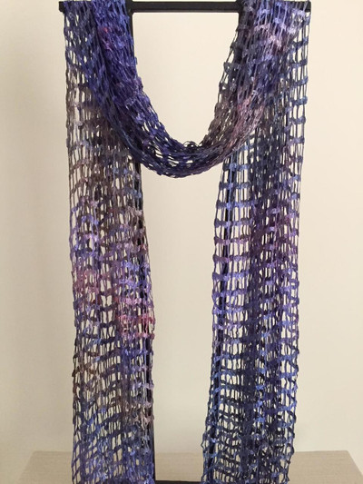 Open Weave Silk Scarf, Visions of Sugar Plum