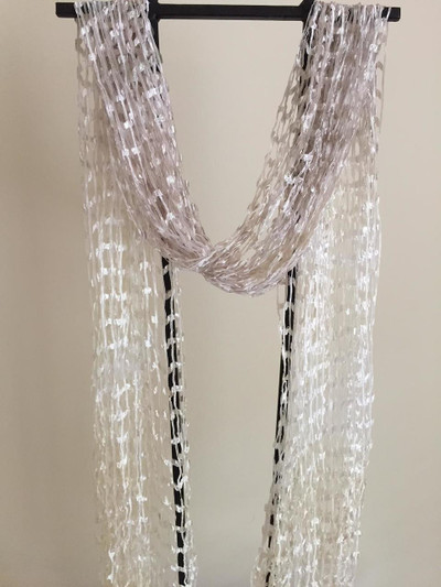 """""""French Manicure"""" Open Weave Silk Scarf"""