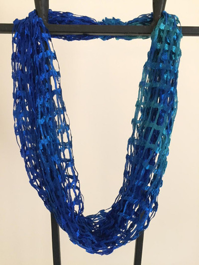 Open Weave Scarf Necklace, Pacific Coast