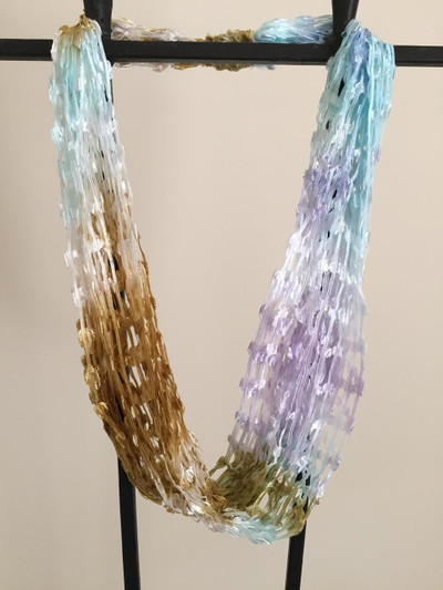 Open Weave Scarf Necklace, After the Rain