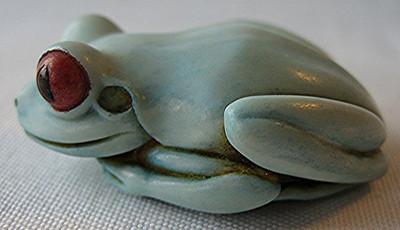 Frog Palm Charm, Original, Blue