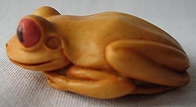Frog Palm Charm , Orange - Original Frog