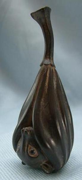 Fruit Bat, Ebony - Netsukes Series