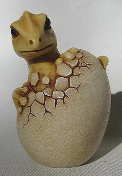 Hatching Dragon, Yellow - Netsukes Series