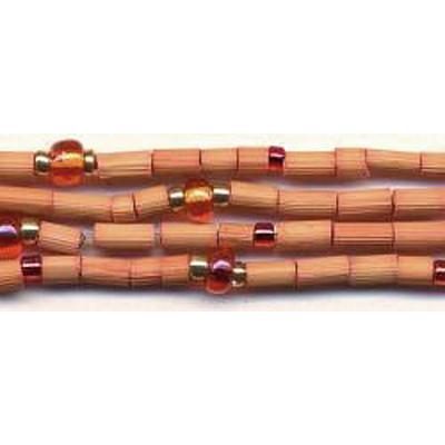 handmade single strand zulugrass african bead jewelry in mango