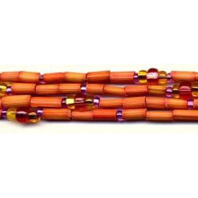 handmade single strand zulugrass african bead jewelry in fiesta