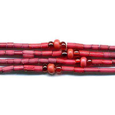 handmade single strand zulugrass african bead jewelry in garnet