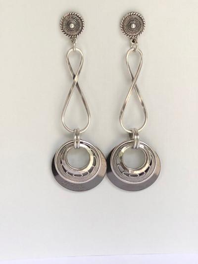 Endless Eons - Post Earrings, Matte Silver - Hematite