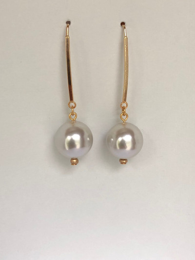 Jelly Drops - French Hook, Matte Gold - Pearl