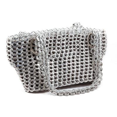 small soda tab purse gail bag silver