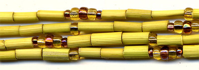 """26"""" Handmade African Bead Jewelry Strand in African Grass"""