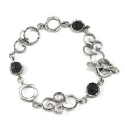 Silver Bracelet with Onyx