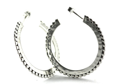 Silver Loop Earrings with Post