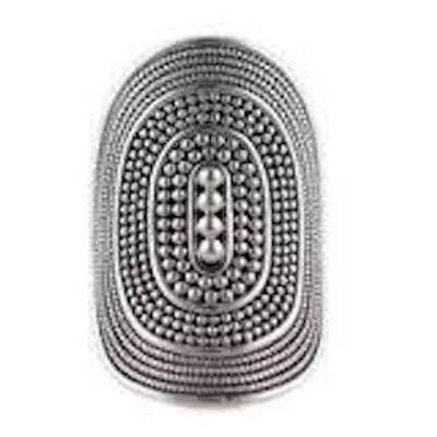 "Silver ""Shield"" Ring"