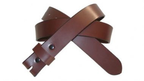 1.25 Inch Belt in Brown Genuine Cowhide Leather