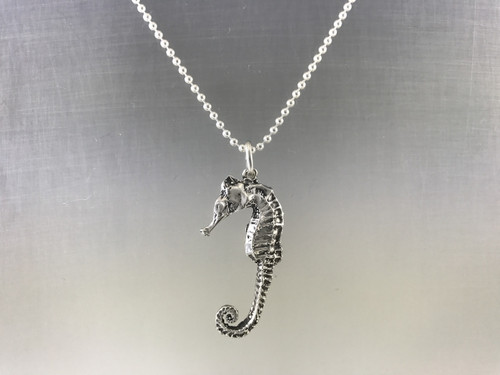 Sterling Silver Seahorse Pendant