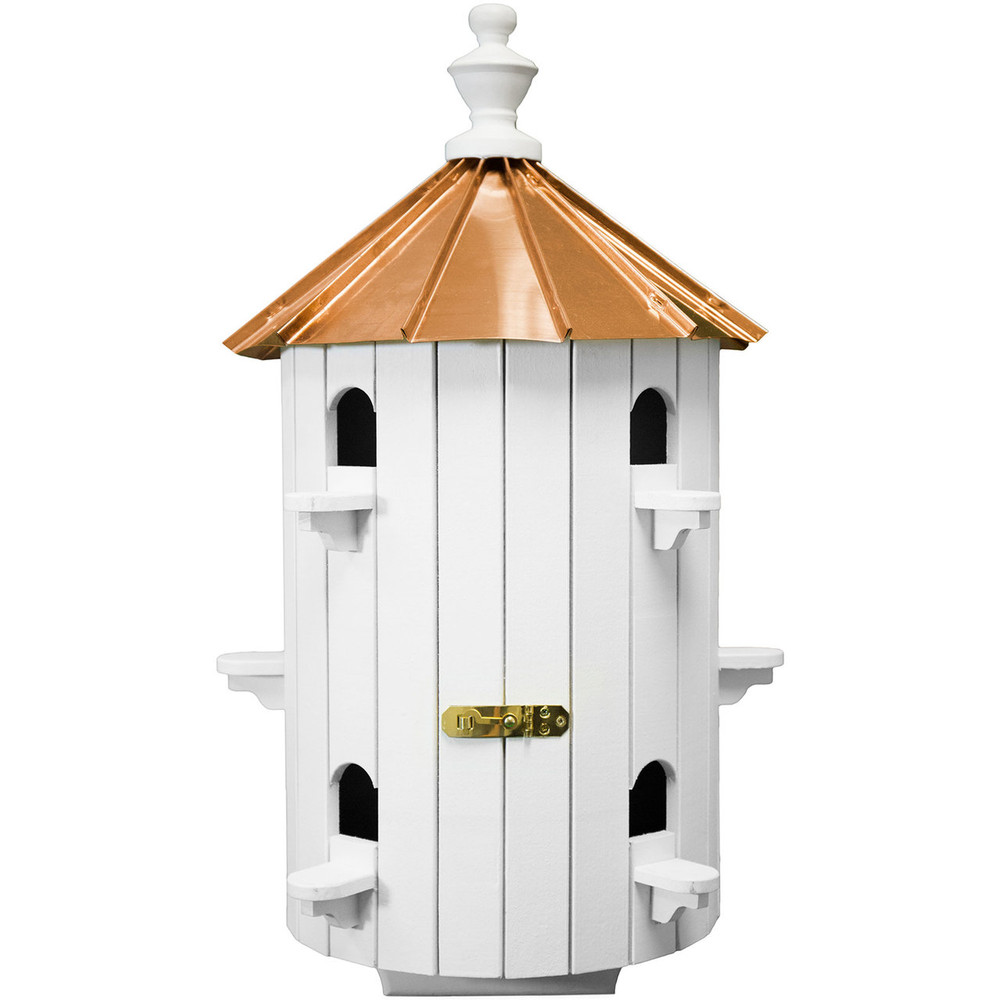 Amish 26ʺ Copper Low Top 10-Hole Birdhouse