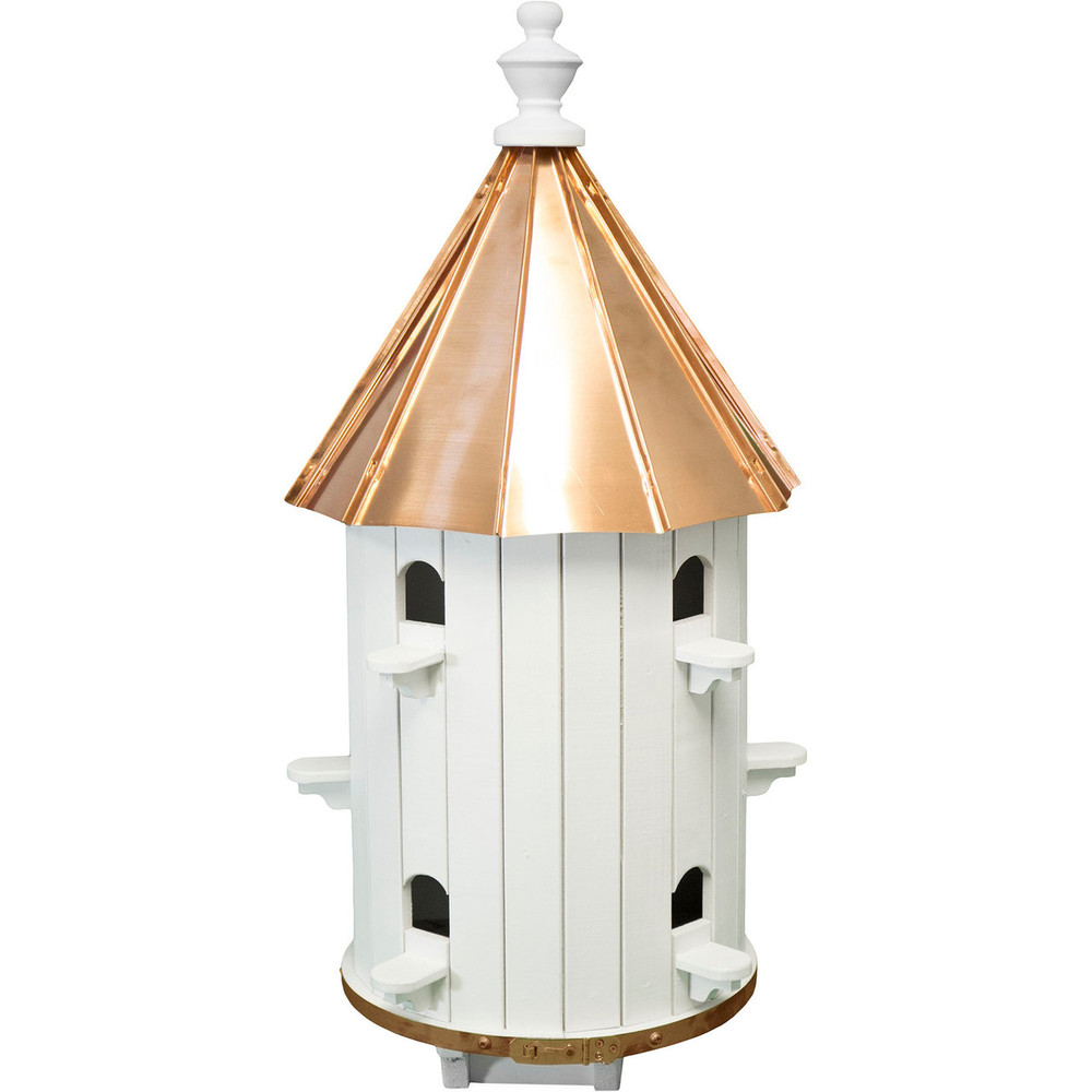 Amish 30ʺ Copper High Top 10-Hole Birdhouse