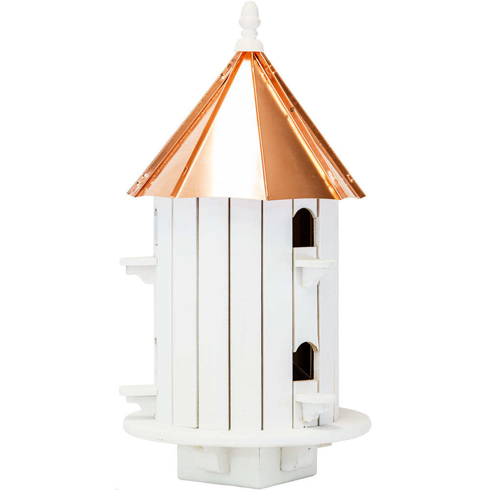 Amish 24ʺ Copper Top 6-Hole Birdhouse
