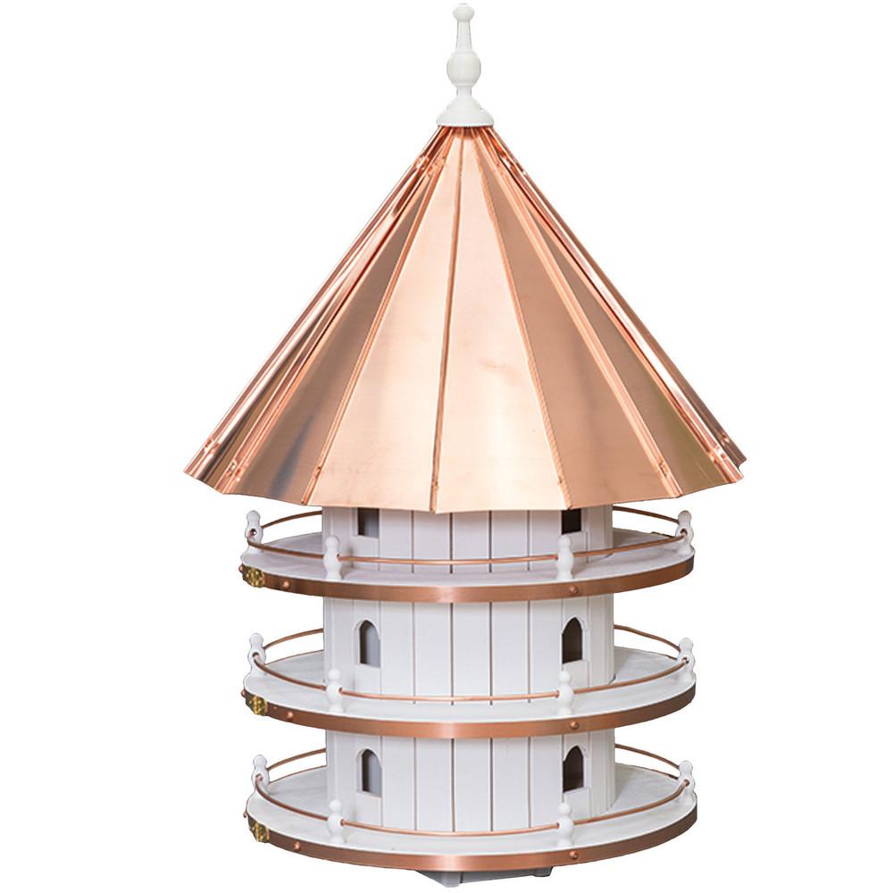 Amish 36ʺ Copper Top 12-Hole Birdhouse